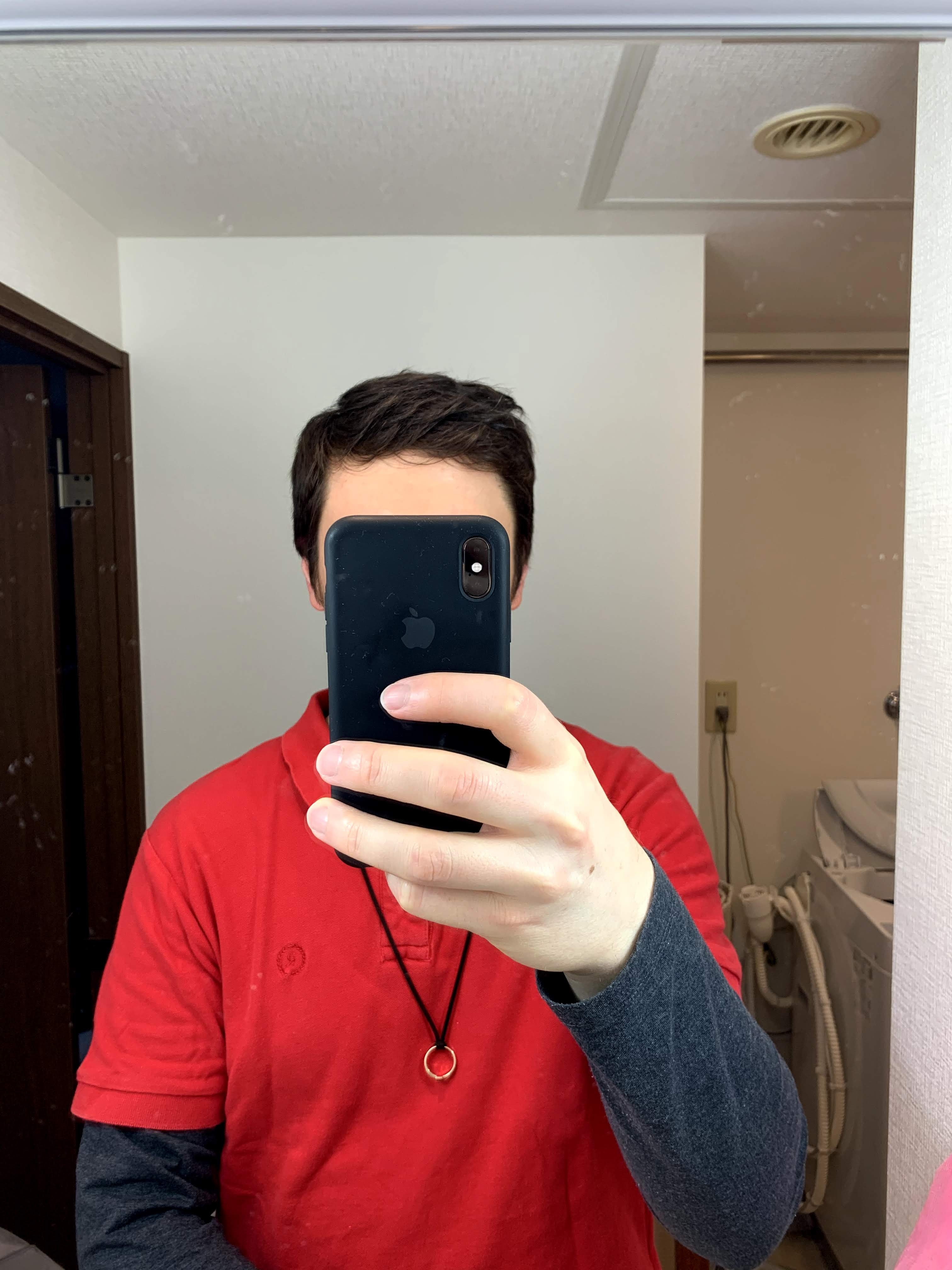 photo of hair before having my wife cut it