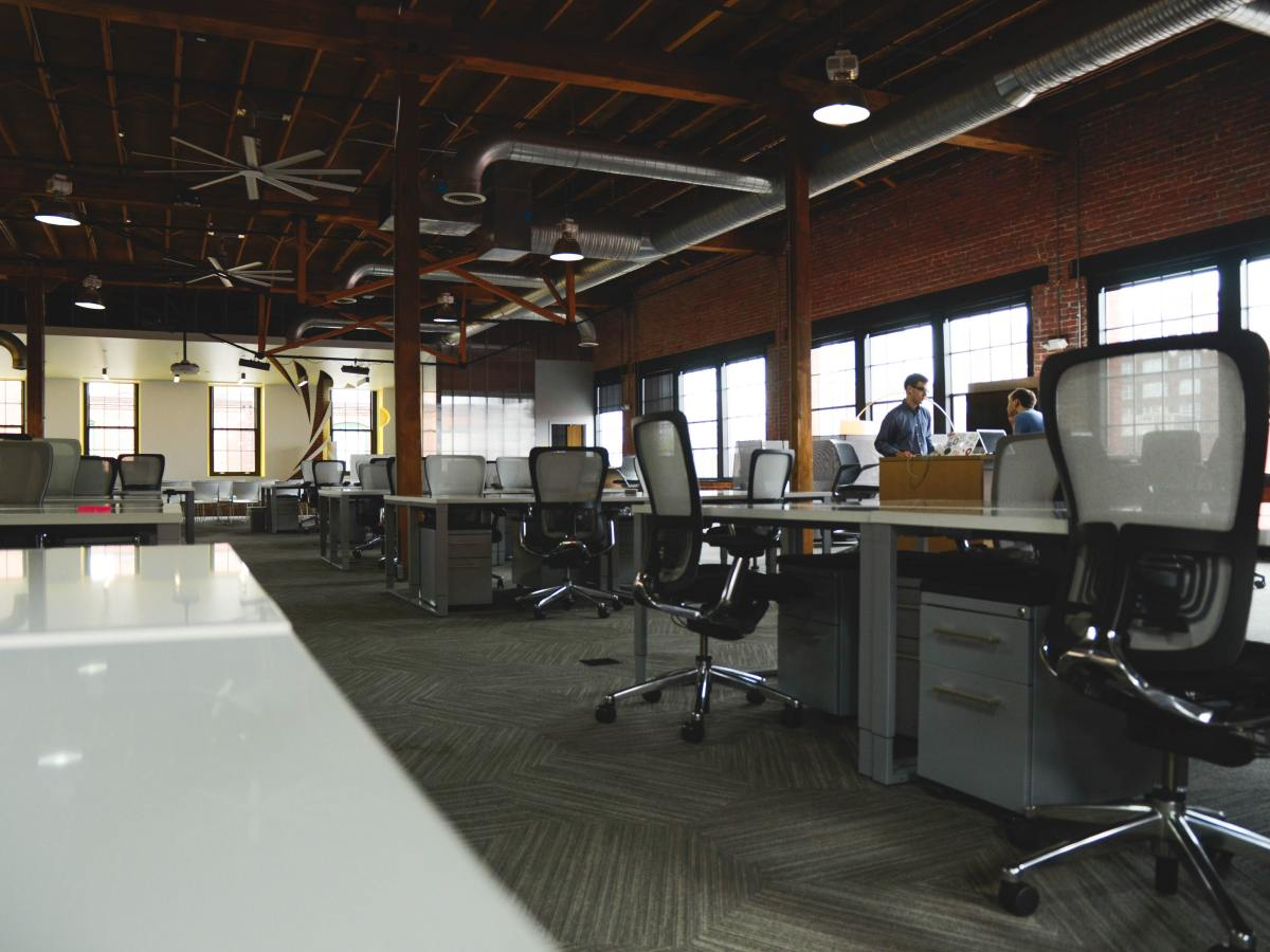 an almost empty coworking space